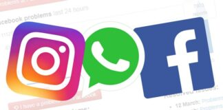 Whatsapp, Instagram, Facebook down