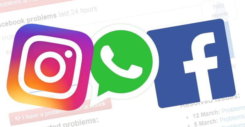 Whatsapp, Instagram, Facebook down
